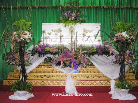 รับจัดดอกไม้งานศพ